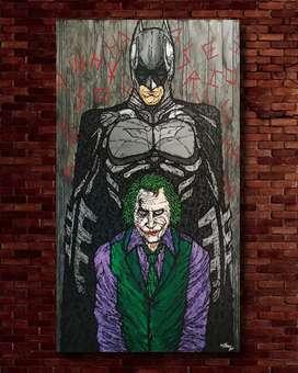 Lukisan Batman and Joker 3D