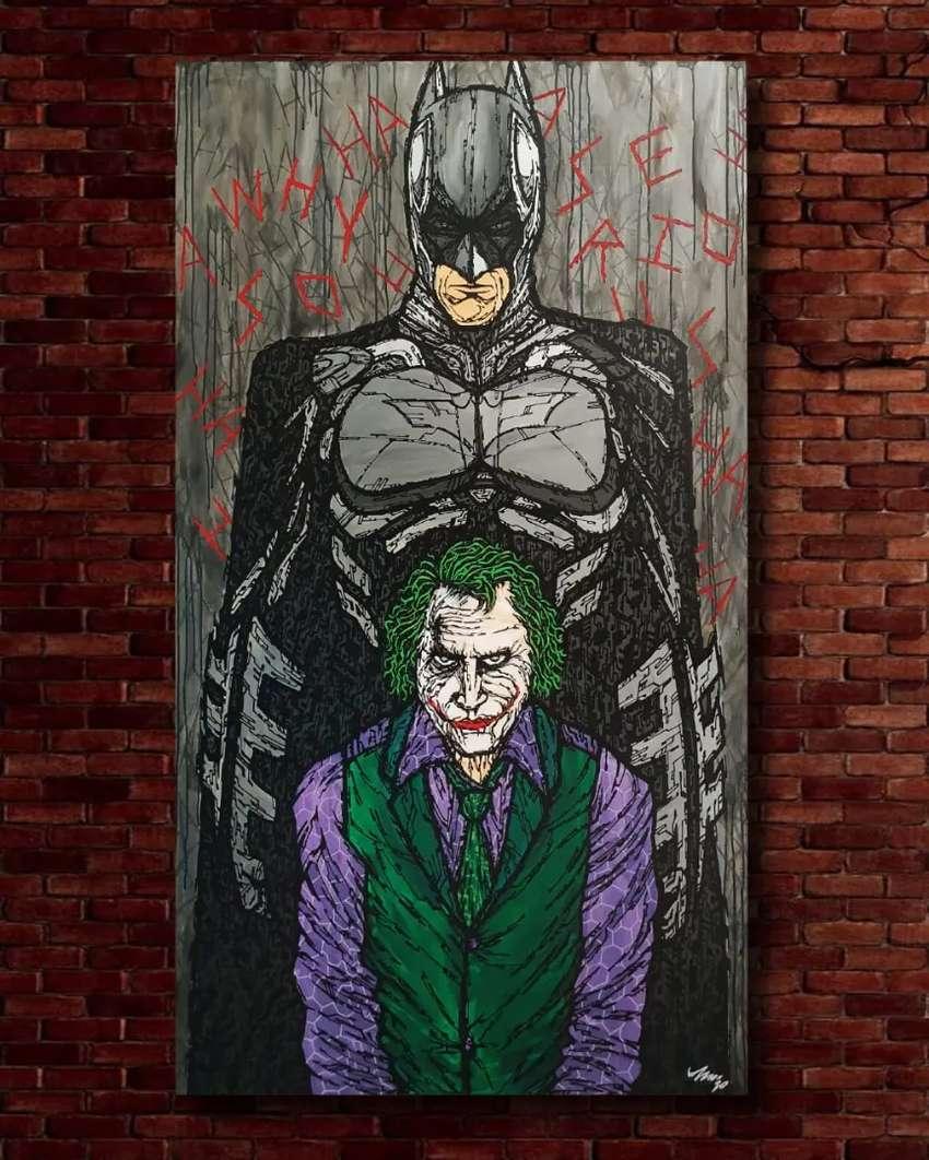 Lukisan Batman and Joker 3D 0