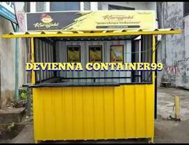 Booth semi container/ stand thai tea container / stand usaha / stand