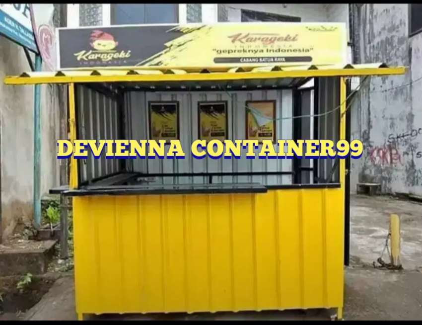 Booth semi container/ stand thai tea container / stand usaha / stand 0