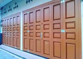 Pusat termurah pemasangan dan pembuatan pintu press bahan pilihan