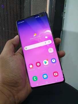 Samsung galaxy s10 plus 8/128 Black Fullset mantap