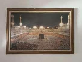 DIJUAL CEPAT! Hiasan dinding foto mekkah + figura