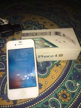 iphone 4s with charger, USB,bill,box