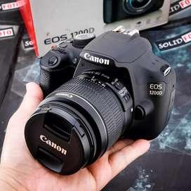 Canon 1200D Kit 18 55mm IS II. Fullset Like New. sc 12rb doank