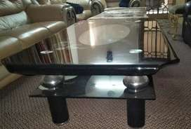 A Glass Table is available in good condition