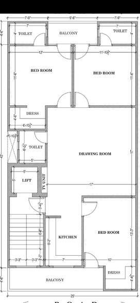 3 BHK floor for sale in sector 7 extn