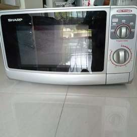 Microwave sharp 22ltr low watt neww warna putih