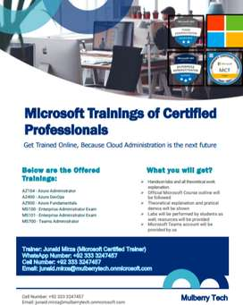 Microsoft Trainings of Certified Professionals