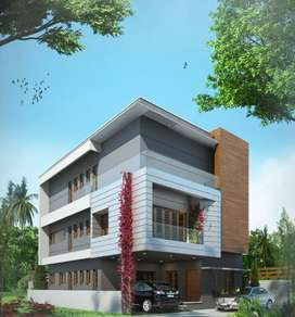 Swimming pool Villa for sale Edappali Lulu Mall