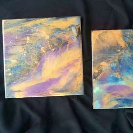 Resin pour painting