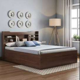 Brand New Queen Size Head Storage cots in Wood Base