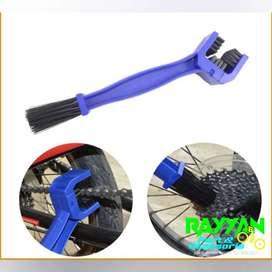 Sikat pembersih rantai sepeda biru
