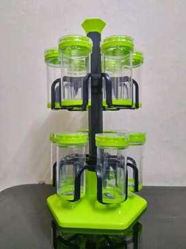 Multipurpose Plastic Deluxe Rotating Masala Rack