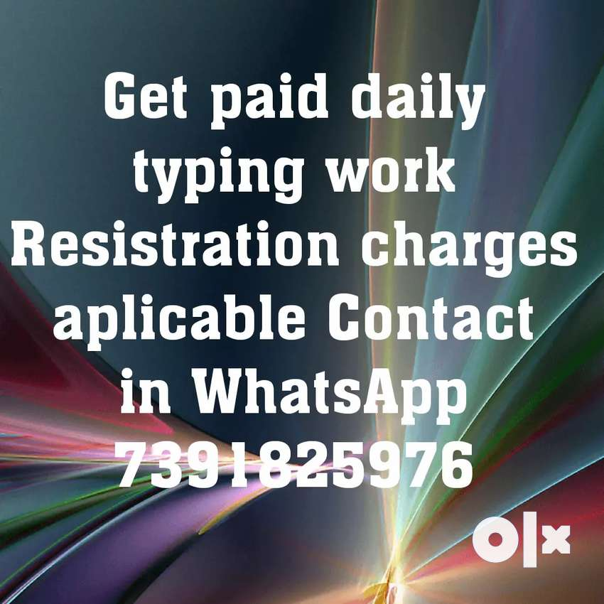 Opportunity in typing work with daily payment 0