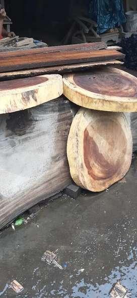 papan top daun meja kayu utuh tanpa sambungan barang sampai baru bayar