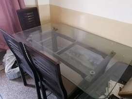5 seater Dining table 12mm glass