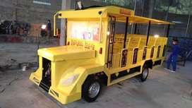 Jual odong odong goyang kereta wisata kuning prosotan ek