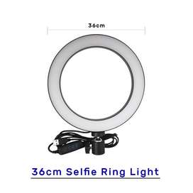 36cm New Selfie Ring Light with and without Tripod Stand & Cell Phone
