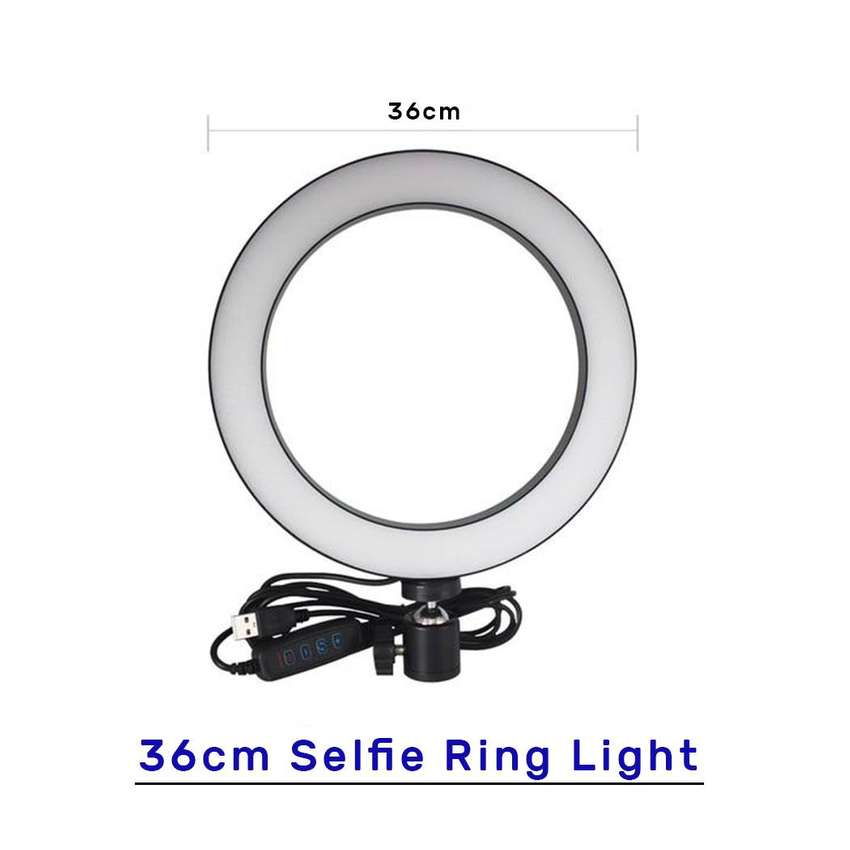 36cm New Selfie Ring Light with and without Tripod Stand & Cell Phone 0