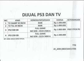 Sony PS3 dan TV