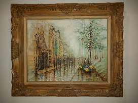 Original antique painting