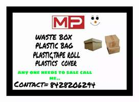 WASTE BOX AND PLASTIC ROPE NEWSPAPER TAKEN FOR SALES