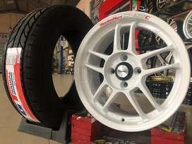 Jual velg Nissan March Type S1 Work R15X7 Racing Hart H4X100 ET38