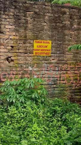 Tanah dijual di Gg Sado Delitua Jl Brigjend Hamid
