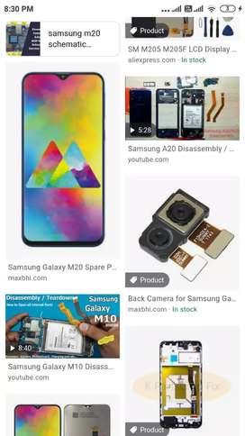 Samsung m20 motherboard cameras back panel battery
