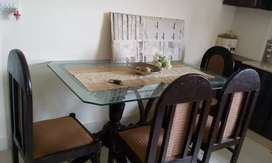 Dining table for sale pure wood6chair