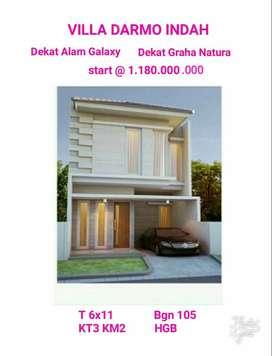 Rumah baru villa darmo indah dekat graha natura alam galaxy citraland