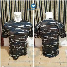 Kaos Loreng Biru TNI AL Layar Navy Seal Marinir Militer