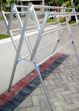 Jemuran Aluminium Plus Hanger 150 Harmonika Lipat