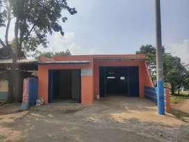 Disewakkan bangunan kios dan gudang bisa untuk garasi jln masuk Truck
