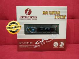 TAPE MOBIL BLUETOOTH DVD USB HEADUNIT INTERSYS INT 5233BT BERKUALITAS