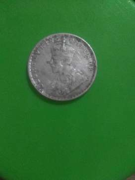 One rupee 1918 old coin