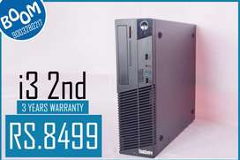 BRANDED LENOVO  CPU ( I3 2nd GEN ) - 3 YEARS WARRANTY - FREE DELIVERY