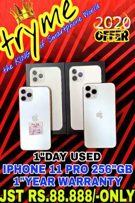 TRYME 1Day Used 256GB 11 PRO Silver 1Year Warranty