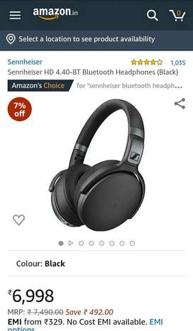 SENNHEISER BLUETOOTH HEADPHONE BT4.40