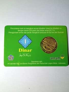 1 Dinar ANTAM sertifikat 4,25 gram Logam Mulia Emas