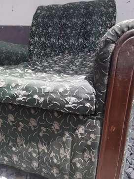 Sofa set good condition 1pice double sit, 2pice singel sit