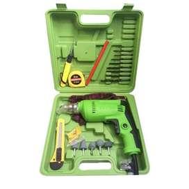 Mesin Bor Tangan Hand Dril 10mm RYU RDR10-3REB Koper + Aksesoris
