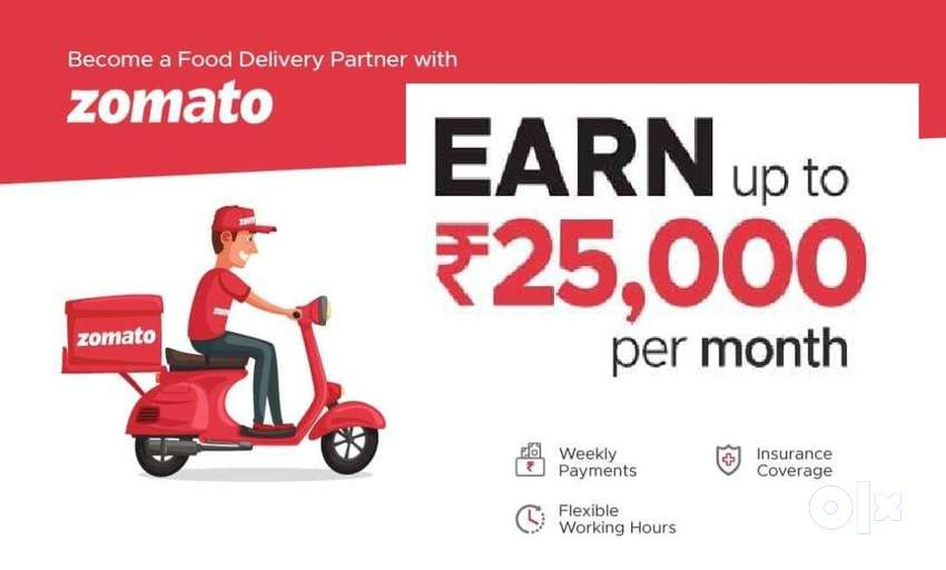 Part time or Full Time Food Delivery Jobs in MYSORE 0