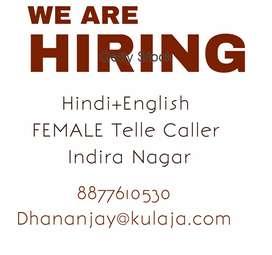Female Hindi English Tele Caller