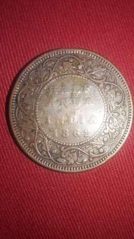 HALF ANNA Queen Victoria 1862