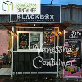 BOOTH SEMI CONTAINER / CONTAINER CAFE ANGKRINGAN / CONTAINER FRENCHISE