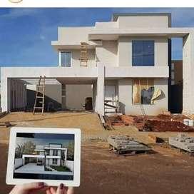 Borong Kerja Tukang Konstruksi Bangunan+Desain-Renovasi Rumah & Kantor