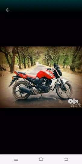 Yamaha red & white fzs