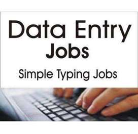 Data entry work from your home on PC,Mobile